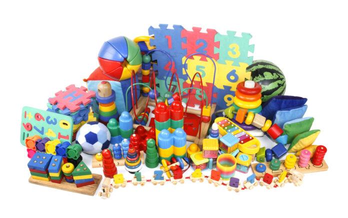 Inspiration til babys første legetøj
